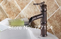 Free Shipping! Oil Rubbed Bronze Euro Style Bathroom Basin Faucet Single Handle Vanity Sink Tap