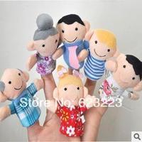 Plush Family Finger Puppets+finger Doll+Christmas Gifts,Popular Children's Toys Free Shipping~