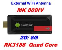 MK809IV Android 4.2.2 1080P HD RK3188 Quad Core Smart TV Box Mini PC w/ WiFi/ HDMI/ Bluetooth/ 2GB/8GB/ External WiFi Antenna