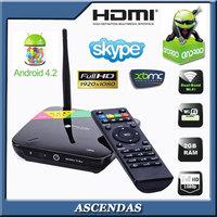 Android Mini PC Quad Core CS968 Smart TV Receiver Webcam Microphone RK3188 HDMI AV RJ45  WiFi