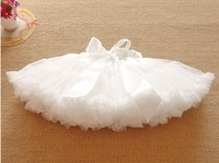 2014 new Multi-List Pettiskirt Bow-knot Girls Dance Tutu Skirt Solid Color DDropShipping retail 1pc