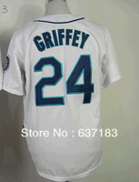 Buy 2014 Cheap Mens Seattle #24 Ken Griffey White Baseball Game Sport Jersey.Embroidery Numbers