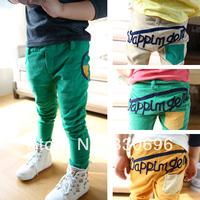 Children's clothing children's pants candy color block decoration child corduroy casual pants male female child pants all-match