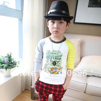 Children's clothing imsweet2014 all-match child cartoon 100% cotton long-sleeve T-shirt male female child basic shirt
