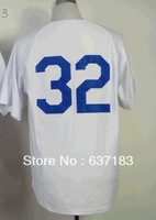 2014 Cheap Mens Los Angeles #32 Sandy Koufax Cream 1955/White  Throwback Baseball Game Sports Jersey.Stitched Numbers