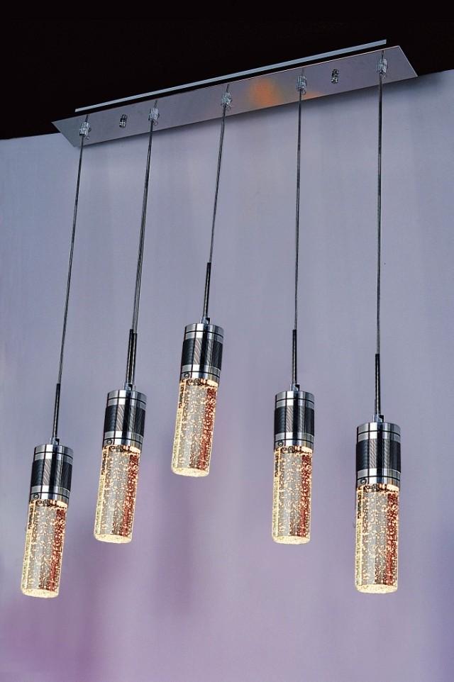 Modern brief cylindrical air bubble crystal lamp restaurant lamp(China (Mainland))