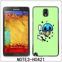 For Samsung Galaxy Note3/N9000 /N9005 Glossy Plastic Hard Back Case,with 3 Pieces Screen protector-Funny Mushroom(H0421)