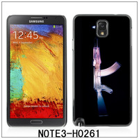 For Samsung Galaxy Note3/N9000 /N9005 Glossy Plastic Hard Back Case,with 3 Pieces Screen protector-AK47 Kalashnikov X-Ray(H0261)