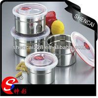 5pcs Stainless Steel 304 fresh portable preservation storage box