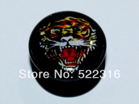 free shipping ear body piercing logo picture mix sizes tiger ear plugs body jewelry wholesale eartunnel stretchers