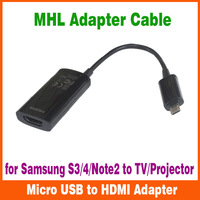 Wholesale MHL Mirco USB to HDMI Cable HDTV Adapter for Samsung Galaxy S4 i9500/S3 i9300/note 2/Galaxy Note 3,Note 8.0 Free DHL