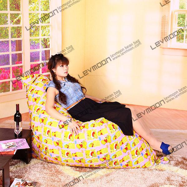 FREE SHIPPING 140*180CM bean bags 100% cotton canvas bean bag chairs fabric bean bag furniture yellow color the bean bag(China (Mainland))