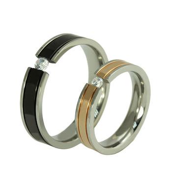 свадьбы и события из нержавеющей стали обручальные кольца для мужчин и женщин мода свадьба обручальное кольцо установить CR- 026