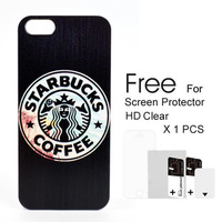 New 2014 Fashion Accessories Phone  Cases Starbucks Coffee Case Phone  Case For iPhone 5/5S Free Shipping
