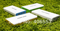 200pcs New 20000mah USB External Backup Battery Power Bank for iPhone iPad Samsung HTC with micro usb cable + retail box