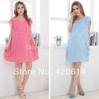 Summer 2014 New Causal Model Maternity Dress, Shorts Women Slim Plus Size Dresses Vestidos Pregnant Top Girl Clothing 31089