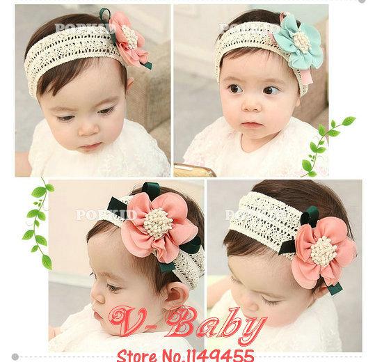 10pcs/lot Korean Headwear Fashion flowers headbands Baby Girl hairwear Sweet Children accessories hairpins(China (Mainland))