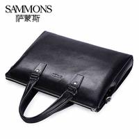 Man bag genuine leather the first layer of leather male handbag briefcase laptop bag messenger bag