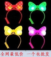 Luminous bow hair bands hair pin flash hair pin hairpin MINNIE headband hair bands
