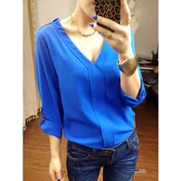 New fashion women's blouses casual loose chiffon Q0033