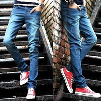 Skinny jeans pants Cotton Denim Retro Trend Casual men Fashion Brand Blue Drop-shipping Slim fit Spring 2014