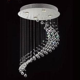 Lâmpadas de iluminação espiral de cristal moda moderna escada lâmpada restaurante luz pingente lâmpada breve(China (Mainland))