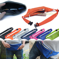 New Mens Women Fashion Zipper Waist Pack Casual Sports Running Cycling Travelling Waterproof Bag For  Mobile Phone IC Card Money
