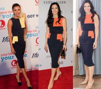 Dropshipping New Fashion Elegant Women Ladies Sleeveless O-Neck Zipper Stretch Slim Bodycon Knee-Length Pencil DressS-XL