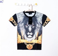 In the spring of the new  Giv Ench Alien Dog Sharks medusa clown virgin lion short sleeve T-shirt