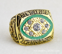 NFL 1968 New York Jets Super Bowl championship rings