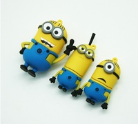 Cartoon Despicable Me USB Flash Drive Minions Pen Drive 4gb 8gb 16gb 32gb USB 2.0 Flash Disk free shipping