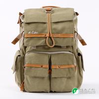 M.Like DSLR camera bag canvas shoulder bag backpack outdoor photography driftwood 5dii 5diii 6d  d600 d800 accessories (6085)