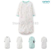 Free Shipping 2014 Newborn Carter Baby Boys Sleeping Bag Clothes Long-Sleeve Zipper Sleep Bags/Sacks
