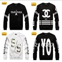 2014 Hitz GD bigbang MISBHV Eiffel Towerletters printed fleece sweater hip-hops pullover  streetwear