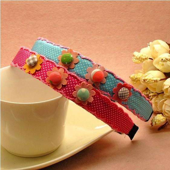 Neue mode süßigkeiten farbe blumenmädchen kinder haarbänder, baby mode haar-accessoires, fabrik