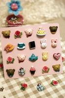 Zaaka resin bear rabbit blackboard magnets decoration stickers cartoon refrigerator stickers