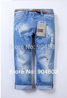 Retai new Za** cotton denim girls jeans brand children's long pants for 2-10 years kids girls pants free shipping