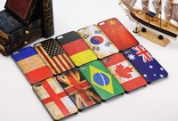Free Shipping 10pcs/lot Vintage Flag Pattern Hard Case cover  for iPhone 4 / 4S