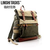 2014 LINSHI TASKS new retro shoulder bag canvas bag backpack schoolbag bag Korean wave packet