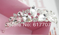 2014 New Free Shipping Czech Rhinestone Crystal Butterfly Tiara Crown Bridal Hair Accessories Hair jewelry Wedding Accessories