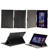 Free Shipping heat setting PU Leather Case +Screen Protector for Asus Transformer Book T100 T100TA