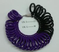 Plastic Finger Sizer Ring Gauge UK L - W US 3 - 13 Free shipping