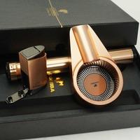 COHIBA Rose Golden Mini Ashtray Hydrating Tube Holder Cigar Lighter Set