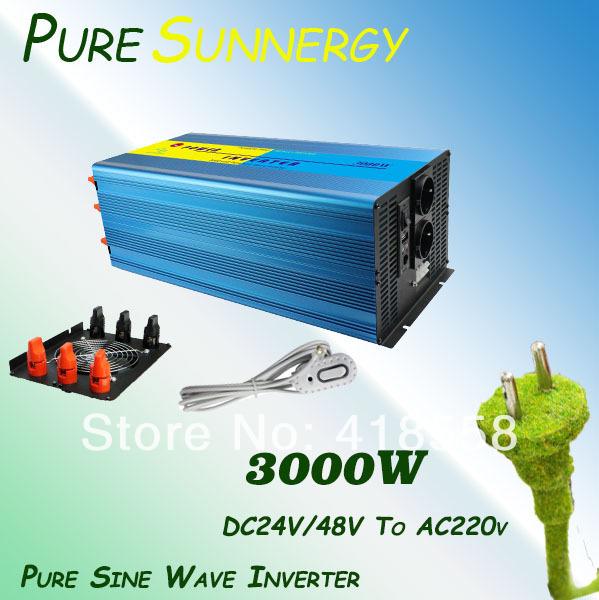 Инверторы и Преобразователи Pure Sunnergy 3000W PSI-3000W 3kw off grid solar inverter 3000w pure sine wave inverter dc110v to ac100 110 120v or 220 230 240v solar wind inverter 3000w