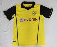Champions League BVB shirt Yellow 13 14 Borussia Dortmund Soccer Jersey Thailand Qualtiy