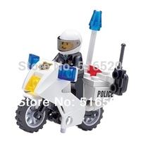 Kazi Police Motorcycle Building Blocks Sets 26pcs Educational Bricks Toys For Children Original Box