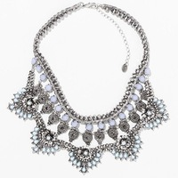 2014 New Brand Exaggerated Alloy Choker Statement Necklace Vintage Necklace costume choker flower Necklaces & Pendants Women