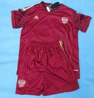 2014 russia kids home red Soccer jersey kids football jersey