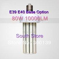 New DHL 2pcs 80w Led Warehouse Corn Light Bulb CW 10000lm Replacement Lamp CFL 250W, e40 E39 Energy Saving, Warranty 3 years