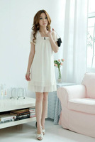 2013 Latest Cake Dress Short Sleeve O-neck Cotton Summer Wear For Women Ladies, Free & Drop Shipping, JW3127